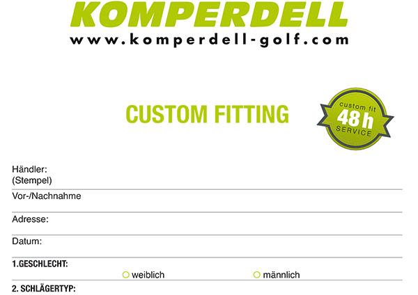Custom Fitting Form